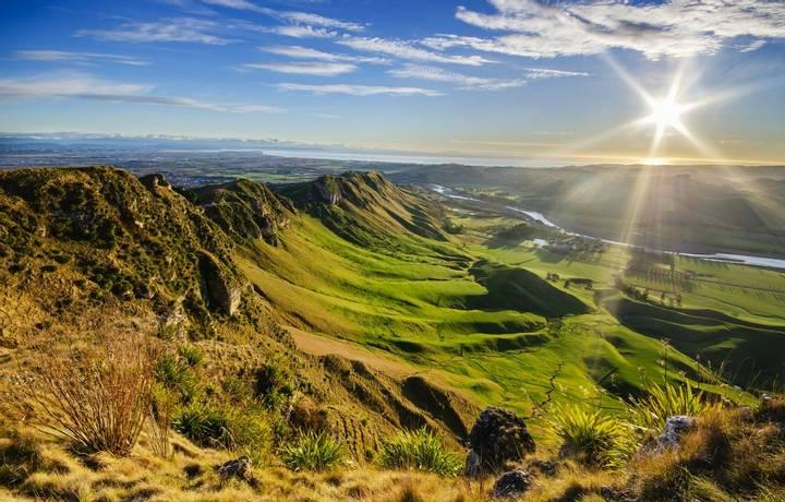 Sunrise at Te Mata Peak, New Zealand