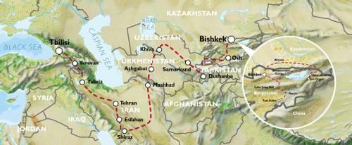 BISHKEK to TBILISI (59 days) Kyrgyzstan to Caucasus