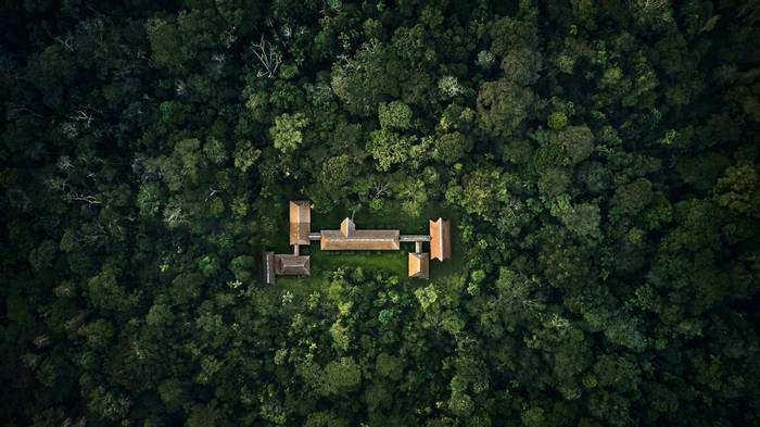 Aerial View Of The Tambopata Research Centre