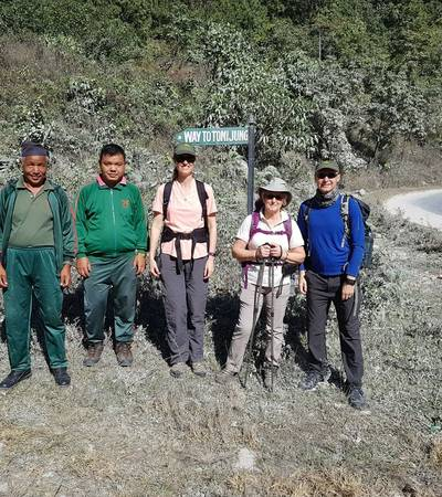 Start of Annapurna Luxury Lodge trek