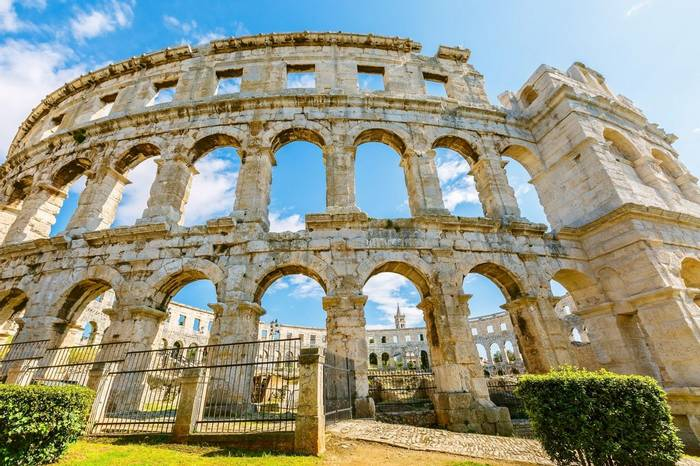 Roman Arena In Pula, Istria, Croatia Shutterstock 422705764