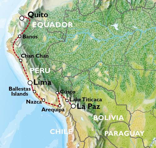 LA PAZ to QUITO (37 days) Andes & Amazon