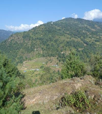 View from trail to Bhandar (2,180m)
