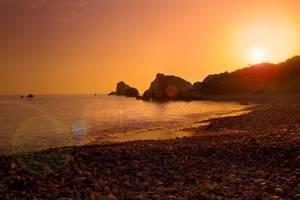 Aphrodite Hills Beach Sunset