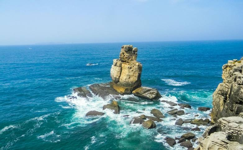 Landscape of Cabo Carvoeiro in the Atlantic Ocean, Portugal