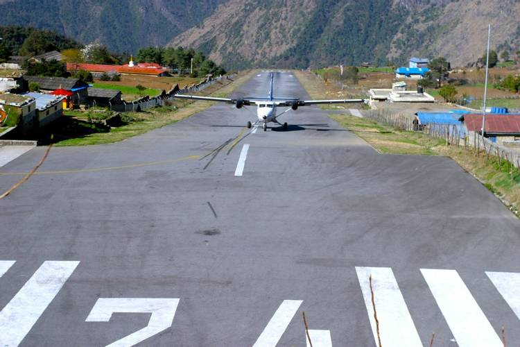 Lukla airport in Everest or Khumbu region of Nepal