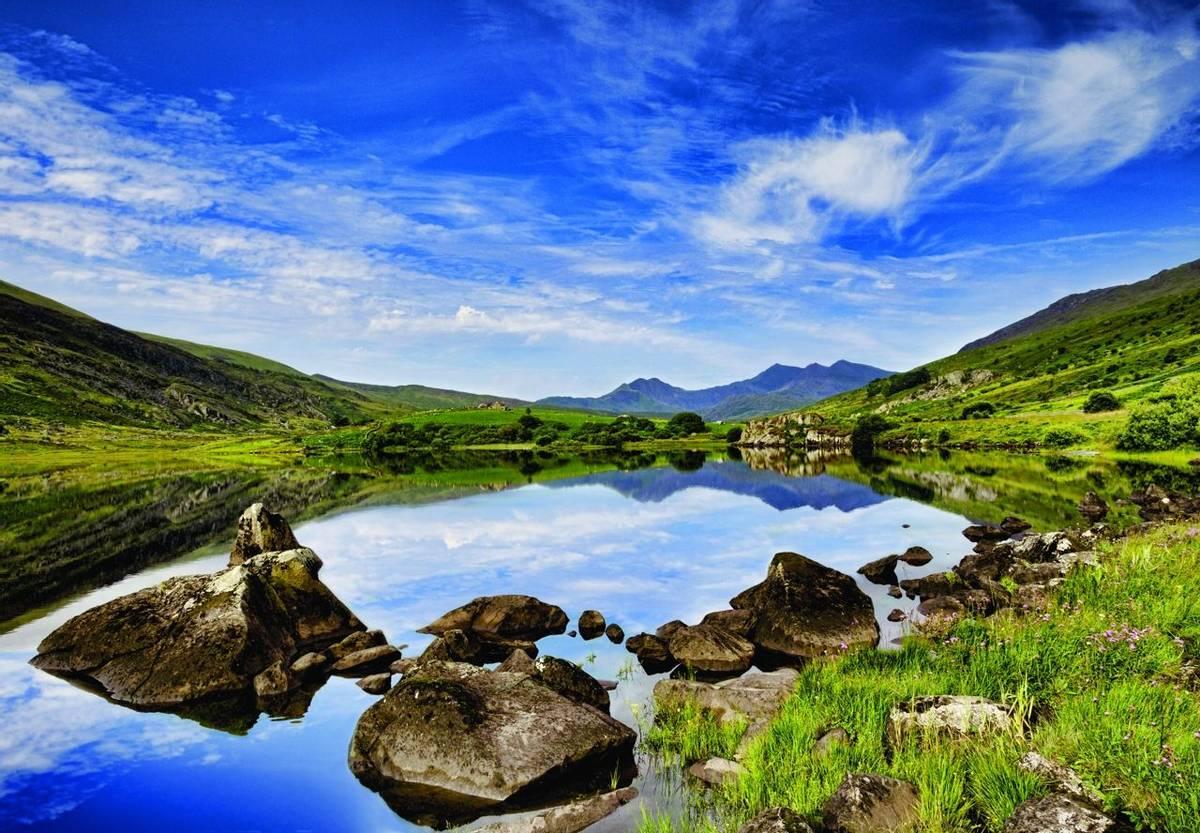 Snowdon from Llynau Mymbyr, near Capel Curig, Wales