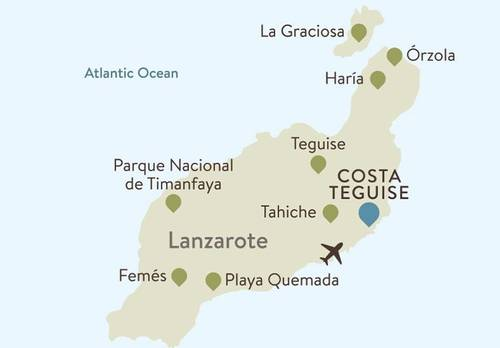 Lanzarote Itinerary Map