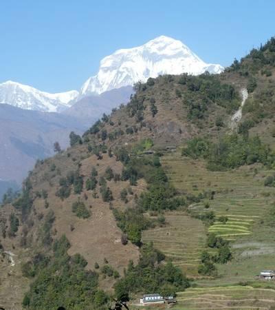 Swanta village and Dhaulagiri