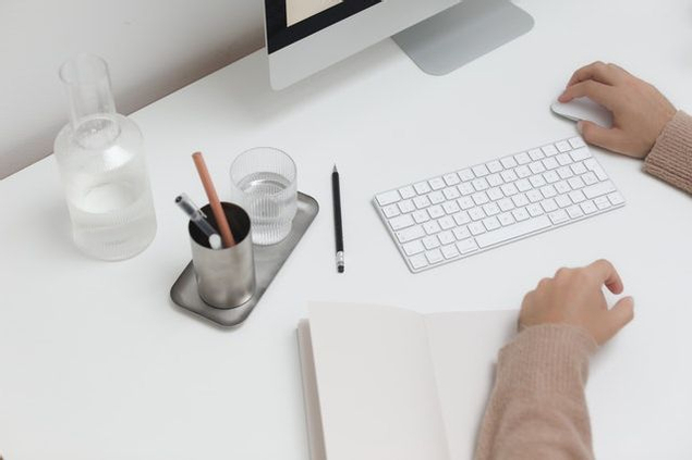 Water on your desk when working from home