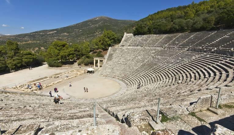 Dreamstime M 13293856 Ancient Amphitheater Of Epidaurus