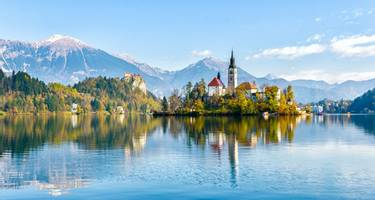 The Pilgrimage Church, Lake Bled in Slovenia.