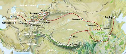 ASHGABAT to BEIJING (56 days) Silk Road Highlights & China