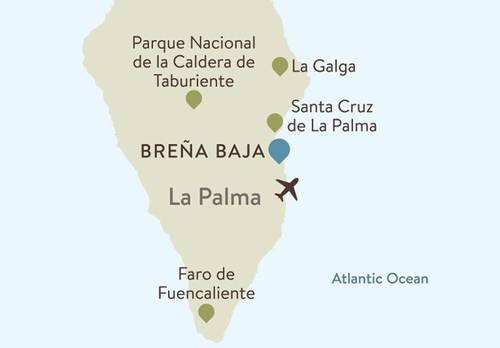 La Palma Itinerary Map