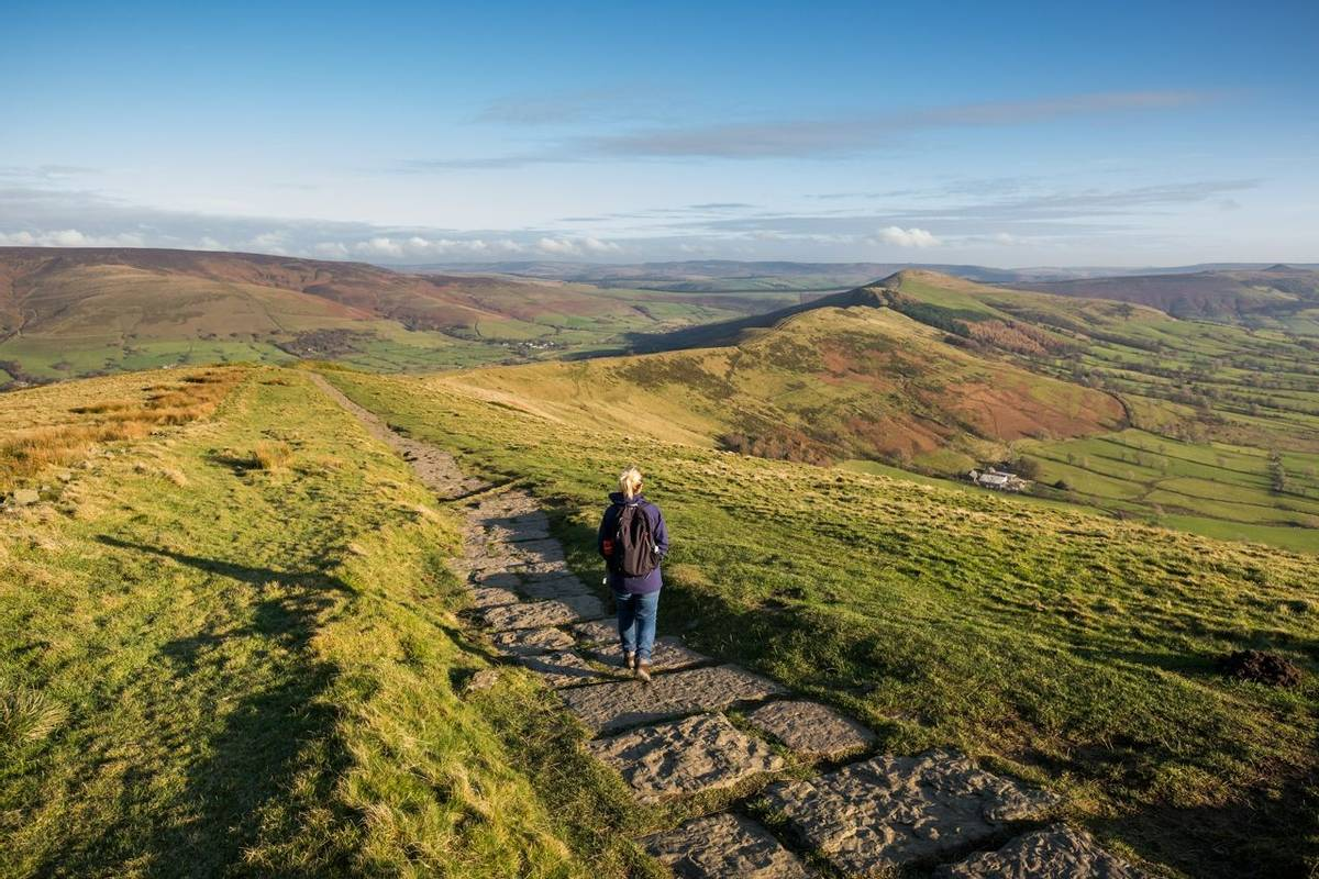 Woman Walking in the Peak District