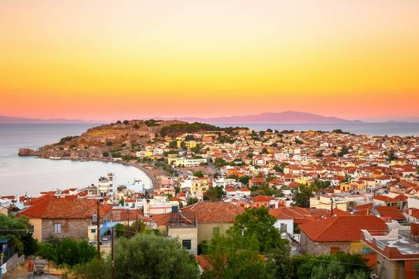 Sunset views of Mytilene Castle, Lesbos, Greece shutterstock_767057020.jpg