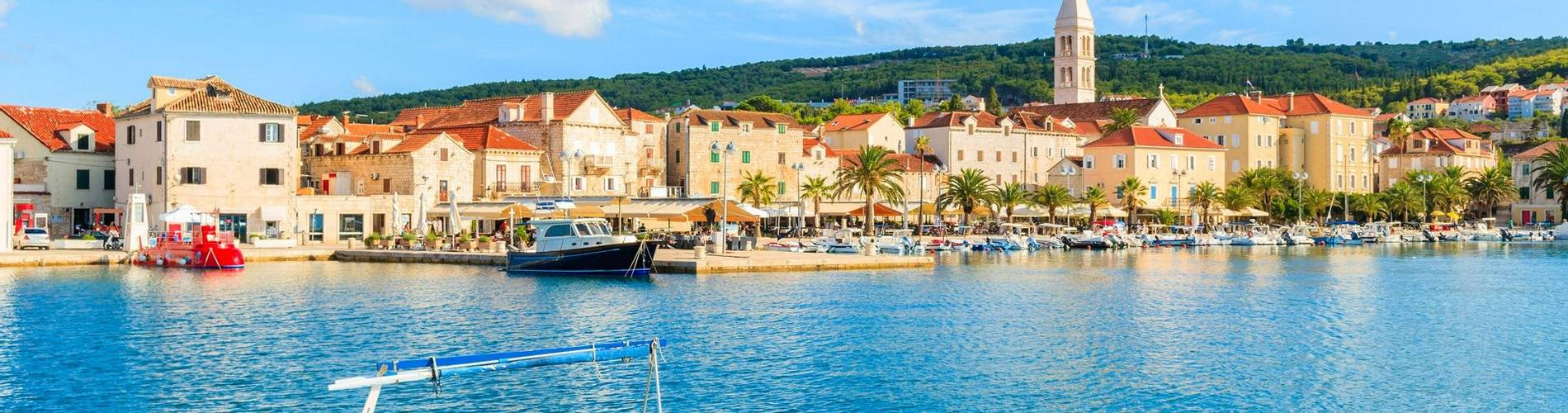 92952020 - fishing boat mooring in supetar port, brac island, croatia