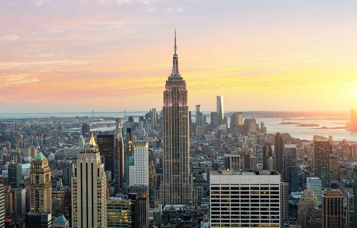 Skyline of New York with the Empire State Building