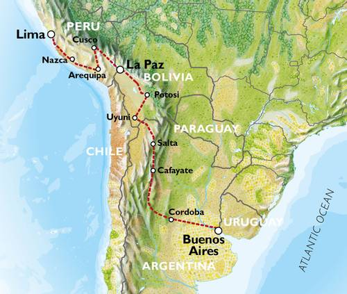 BUENOS AIRES to LIMA (35 days) Peaks & Plains