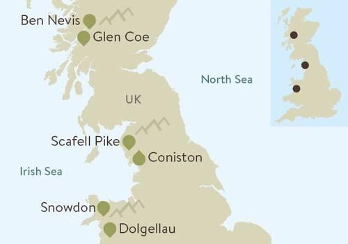 Three Peaks Plus Map
