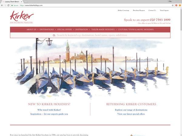 Kirker Holidays Website