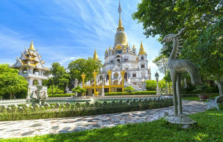 Ho Chi Minh city, Vietnam - June 1st, 2017: Buu Long Pagoda with nice architecture. A peacefull place to calm your mind and …