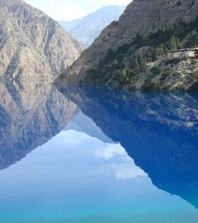 Bonpo gompa overlooking Phoksumdo Lake