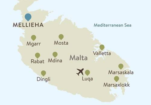 Malta Itinerary Map