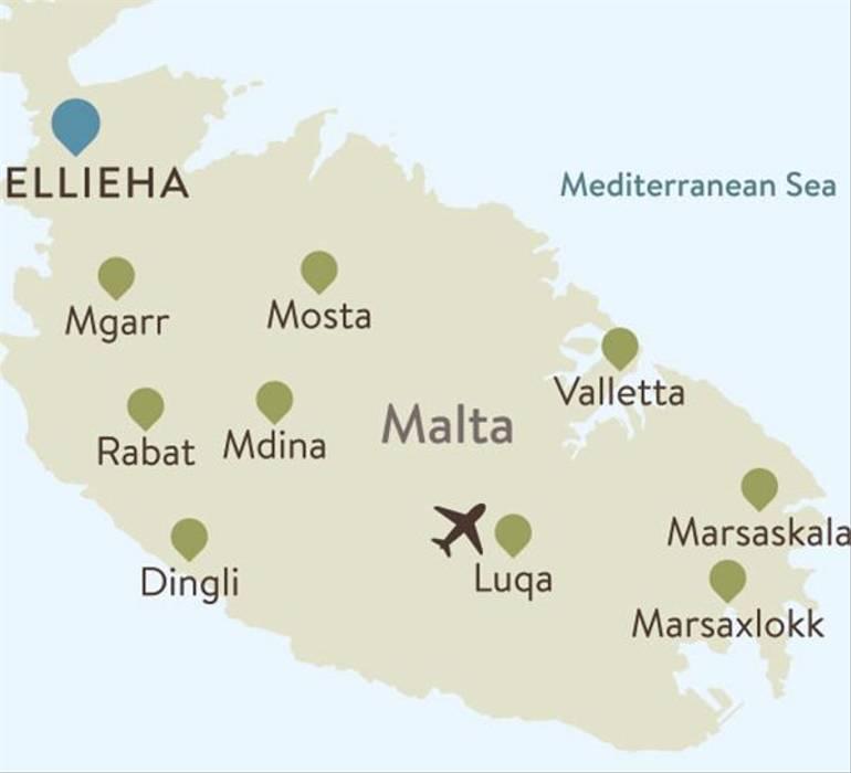 Malta Itinerary Map