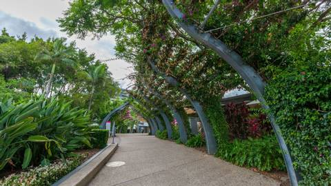 South Bank Parklands in Brisbane, Queensland, Australia