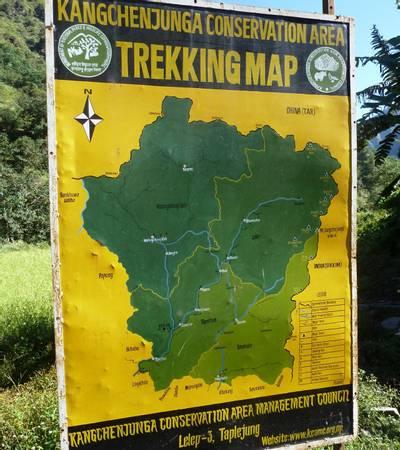 Kanchenjunga trekking map