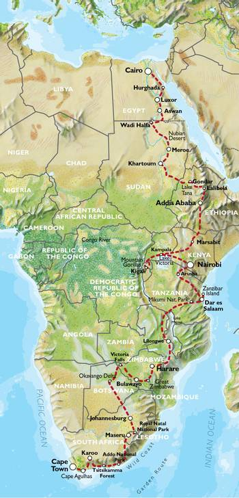 CAPE TOWN to CAIRO via JOHANNESBURG (18 weeks) Nile Trans