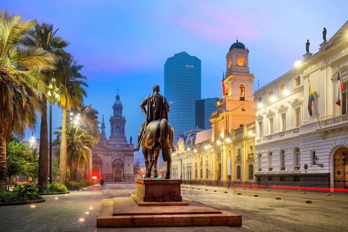 Plaza de las Armas square in Santiago