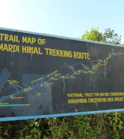 Trail map of Mardi Himal