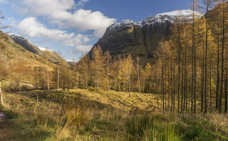Aonach Dubh in Glen Coe, seen from the top of An Torr. Aonach Dubh (in English, the Black Ridge) is one of the Three Siste…