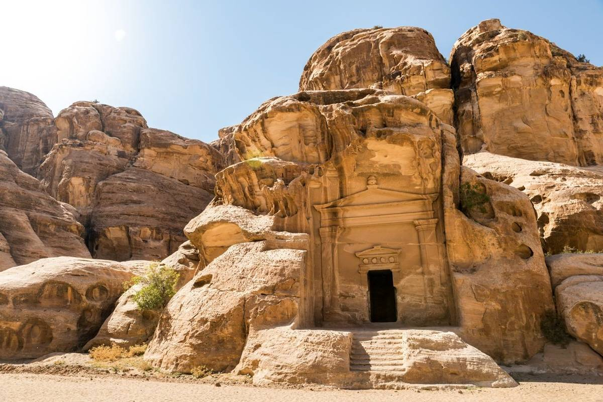 Nabatean temple in Little Petra, Jordan