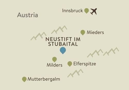 Neustift Itinerary Map
