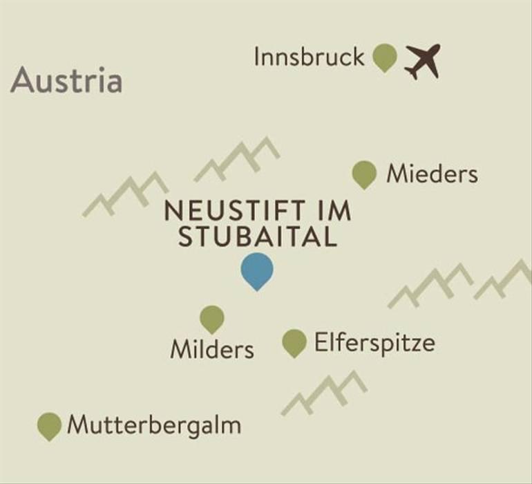 Neustift Itinerary Map