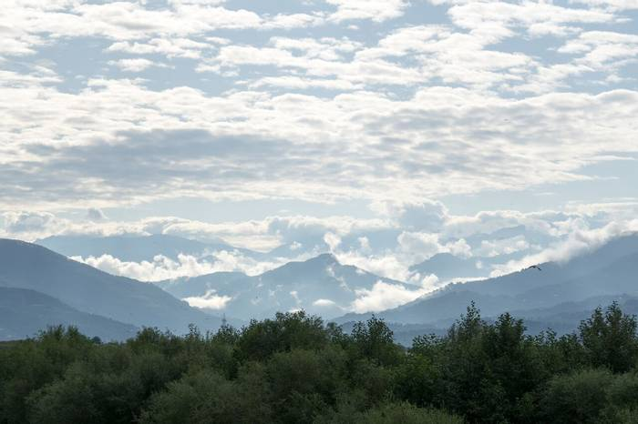 Mountains and clouds by Jim Bennett