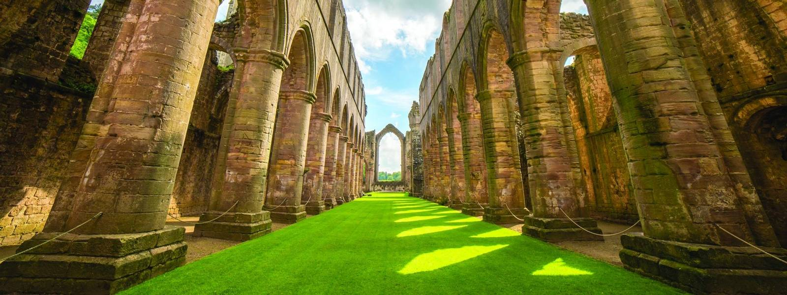 Fountains Abbey in North Yorkshire