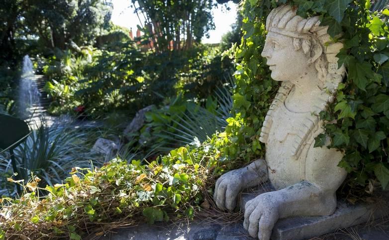 sphinx in la mortella garden ischia