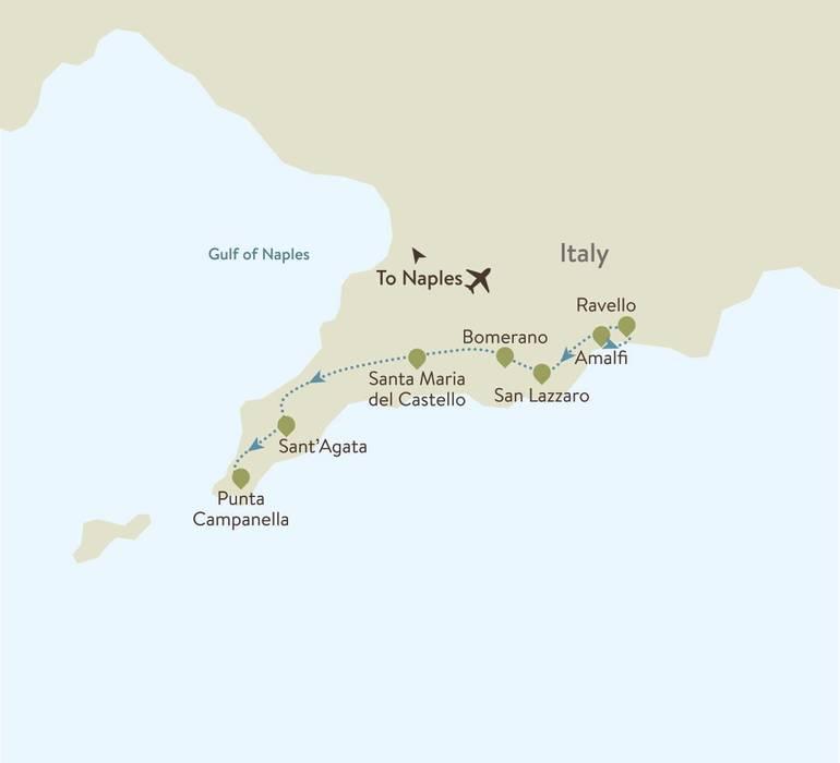 Amalfi Coast Itinerary Map
