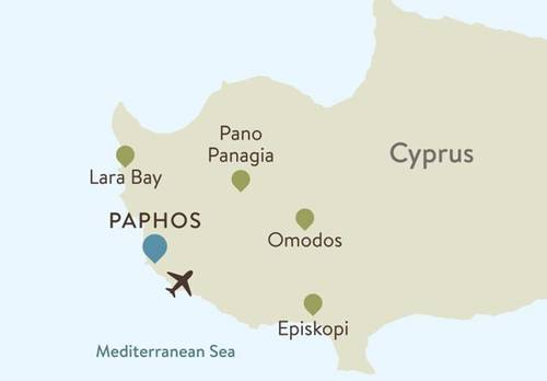 Cyprus Paphos Itinerary Map