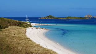 Tresco Island and beyond. From the Isles of Scilly UK.