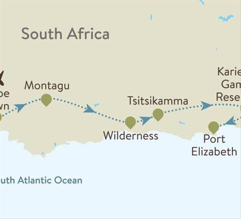 The Cape & Garden Route Itinerary Map