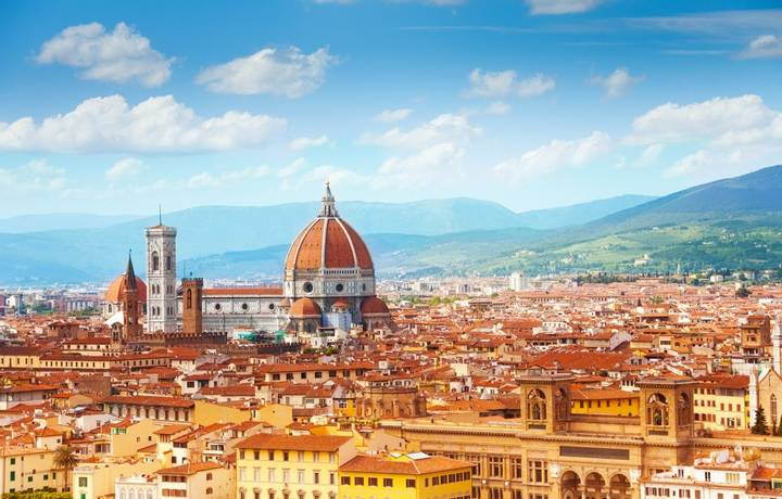Panorama of Florence and Saint Mary of the Flower in Florence