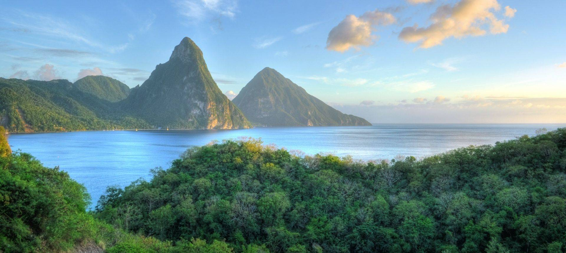 Les Pitons, St.  Lucia. Shutterstock 134456765