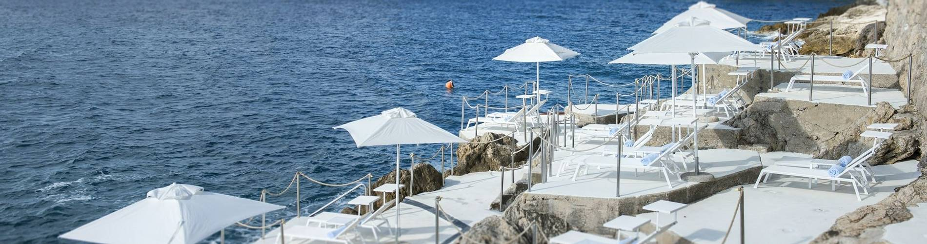 Sunloungers with view onto the bay Hotel Villa Dubrovnik.jpg