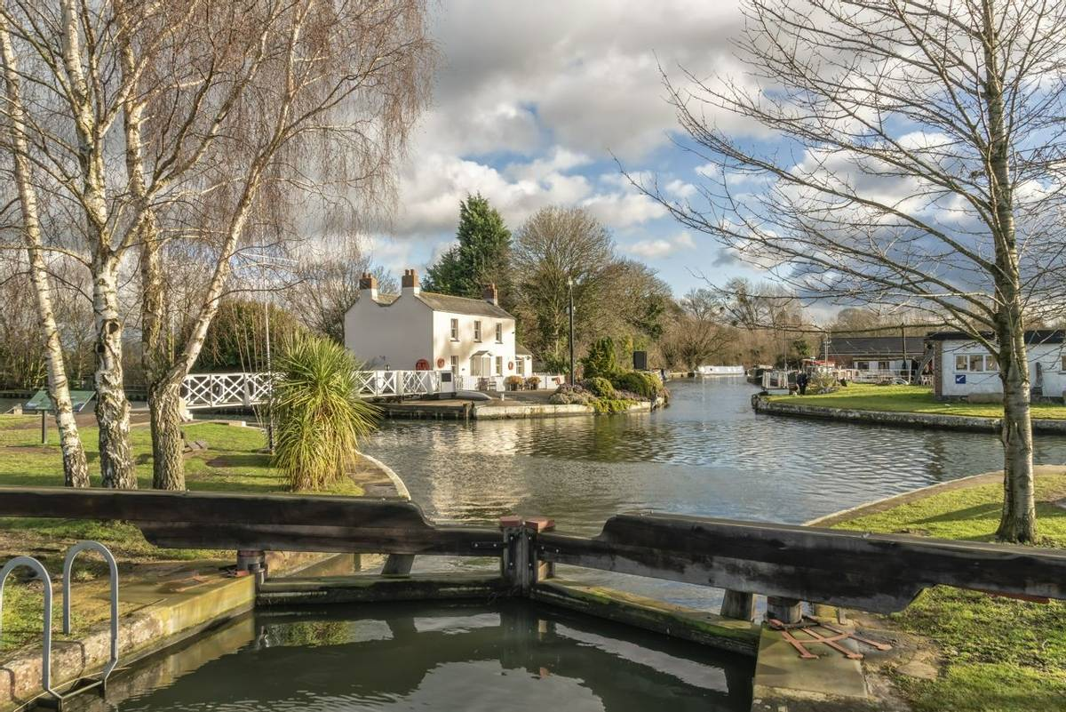Saul Junction with the Stroudwater Canal and the Gloucester-Sharpness Ship Canal