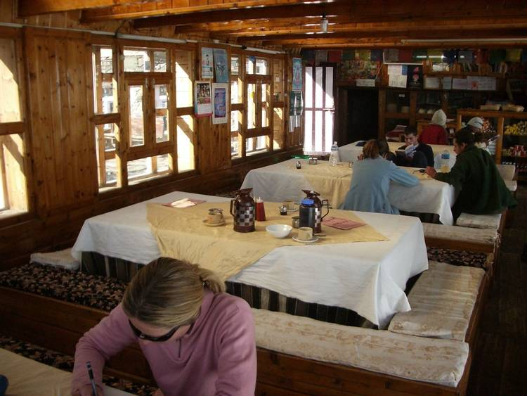 Tea house lodge on Annapurna Circuit in Nepal